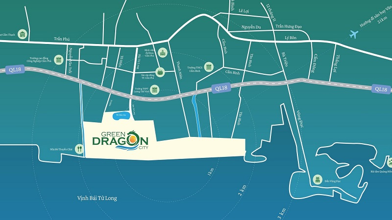 Vị trí Green Dragon City